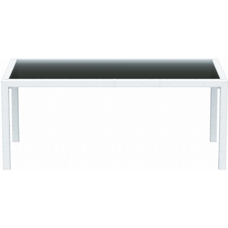 Trustworthy Miami Rectangular Wickerlook Dining Table Product Photo