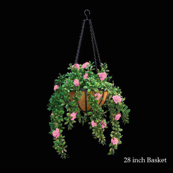 Select Artificial-Outdoor-Flowering-Hanging-Azalea-Basket Product Picture 1429