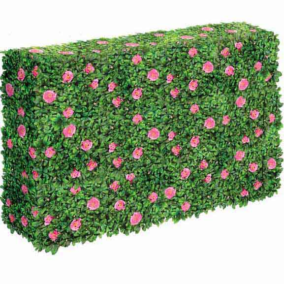 Optimal Artificial Outdoor Flowering Azalea Hedge Product Photo