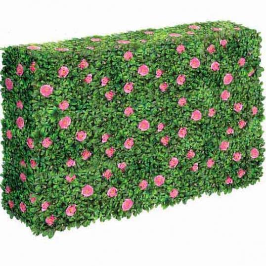 Artificial Outdoor Flowering Azalea Hedge