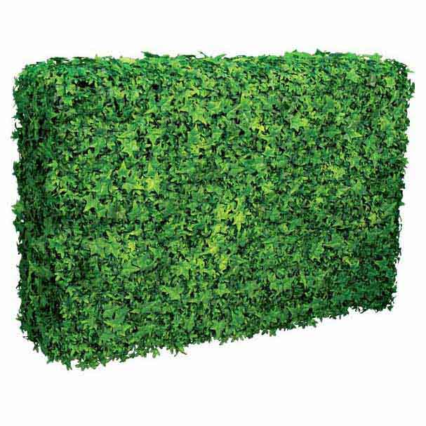 Artificial Outdoor English Ivy Hedge On Plywood Frame