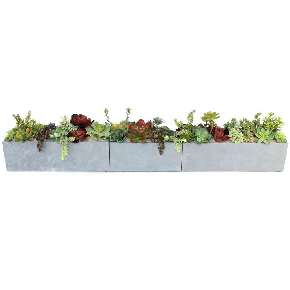 Select Artificial-Succulent-Garden-Set-Fibercrete-Planters Product Picture 739