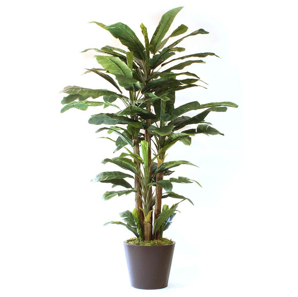 Ultimate Lush Artificial Banana Tree Metal Planter 1 2402