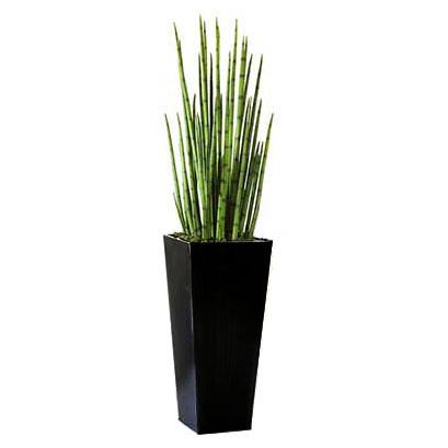 Choose Artificial Snake Grasses Metal Planter 6 18