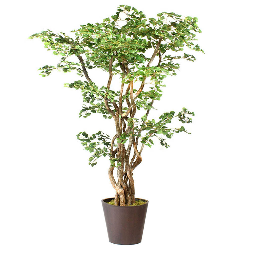 New Artificial Ginkgo Tree Metal Planter 17 1272