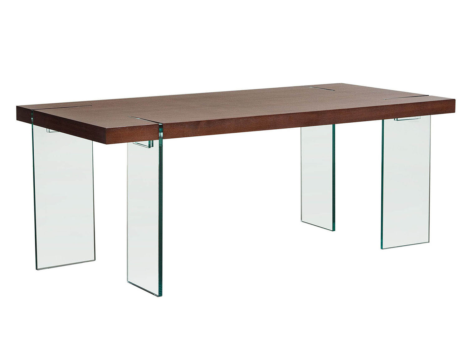 Splendid Glass Leg Dining Table Multiple Color Options Product Photo