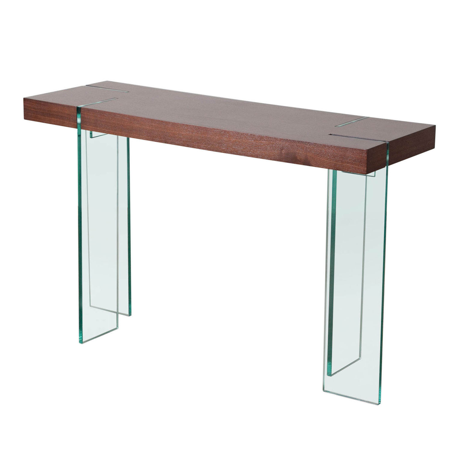 Exquisite Glass Leg Console Table Multiple Top Options Product Photo