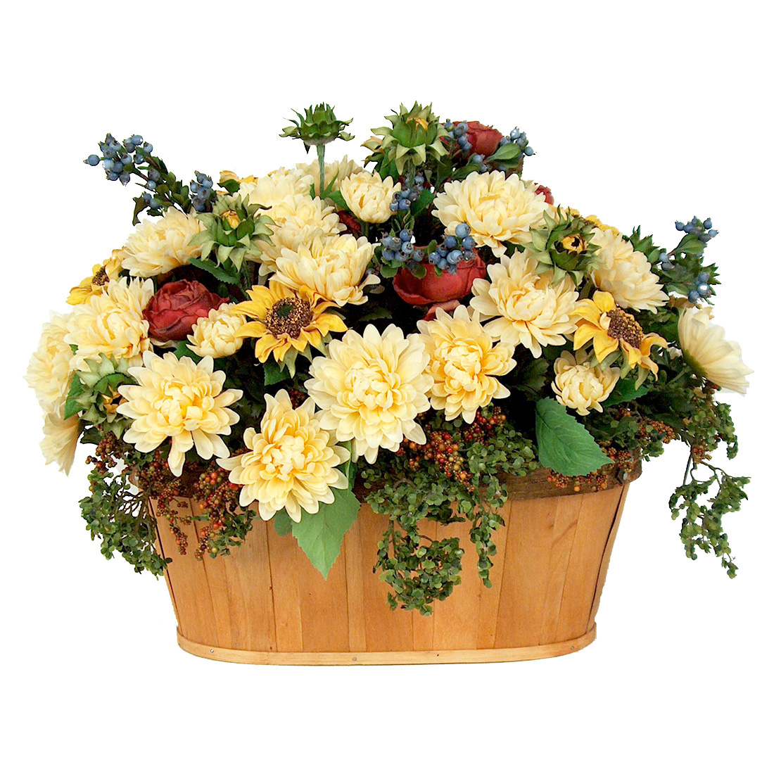 Asters in Country Basket EA-CC17-04