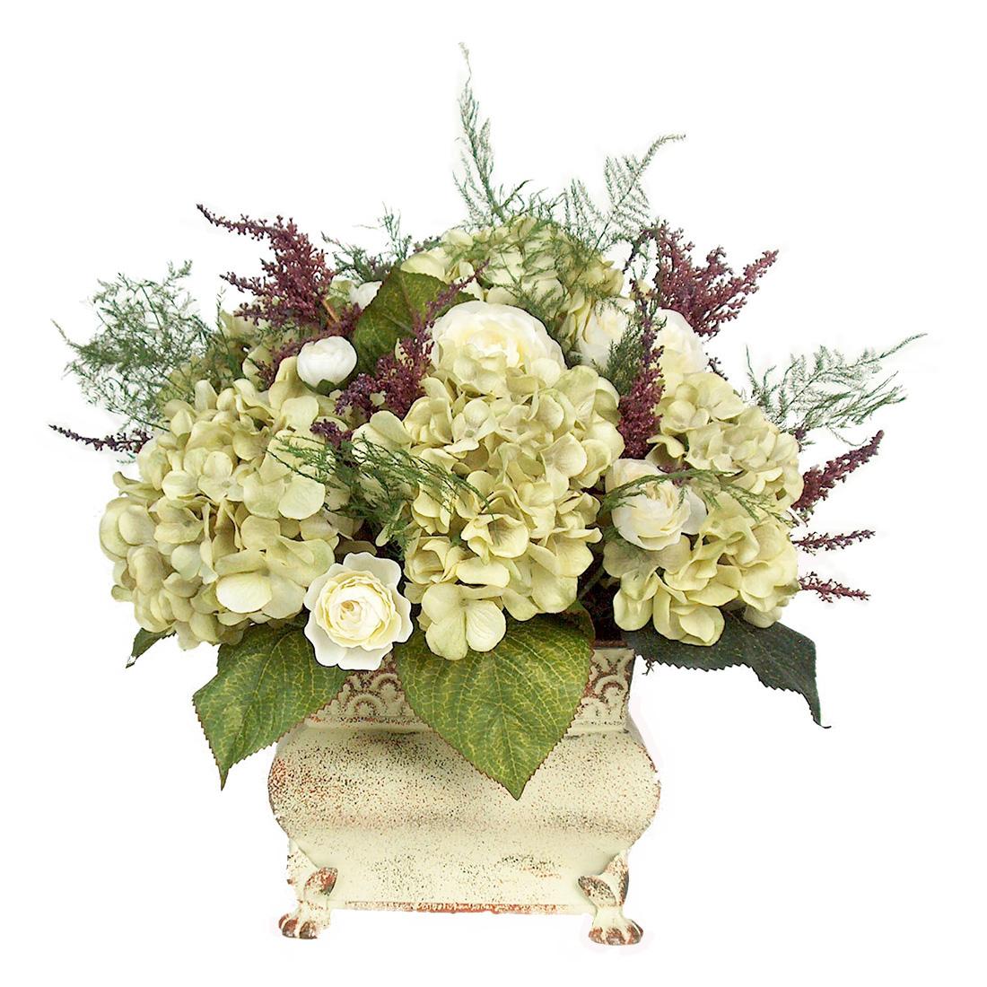 Celadon hydrangea floral arrangement ea ce
