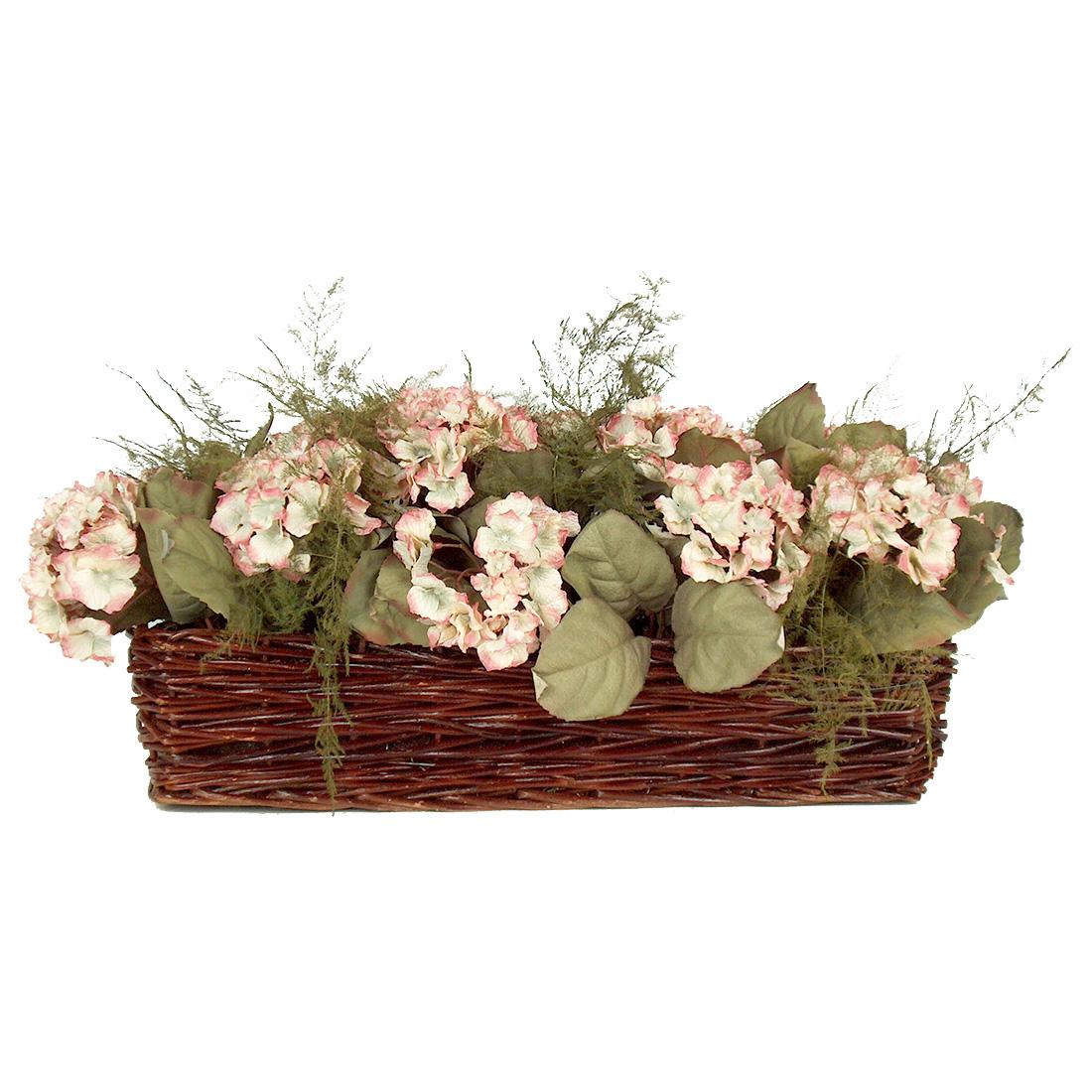 Hydrangeas in Willow Basket EA-ST10-04