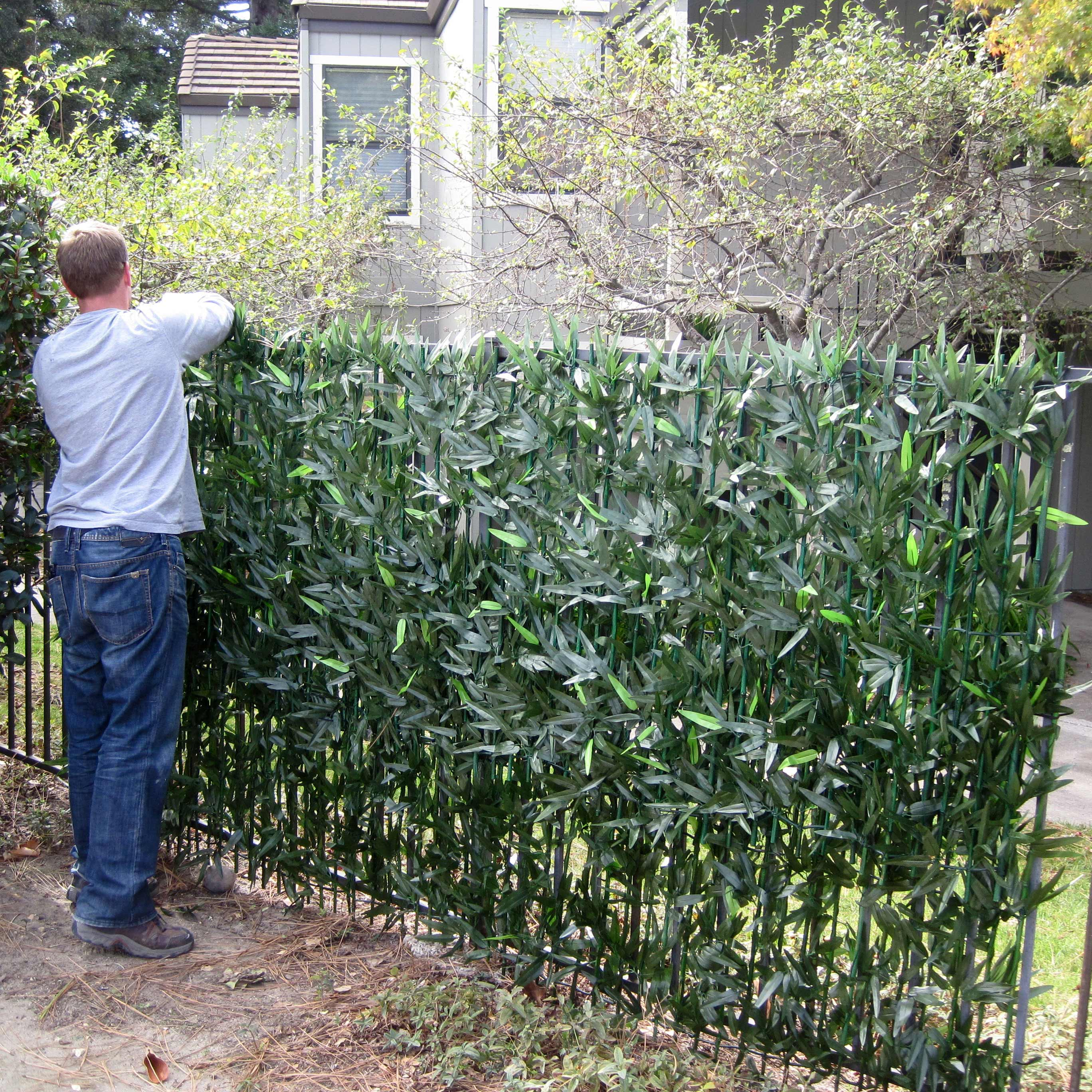10 foot x 3.5 foot Woven Bamboo Fence Roll | EZ 8027 | EZ Ivy