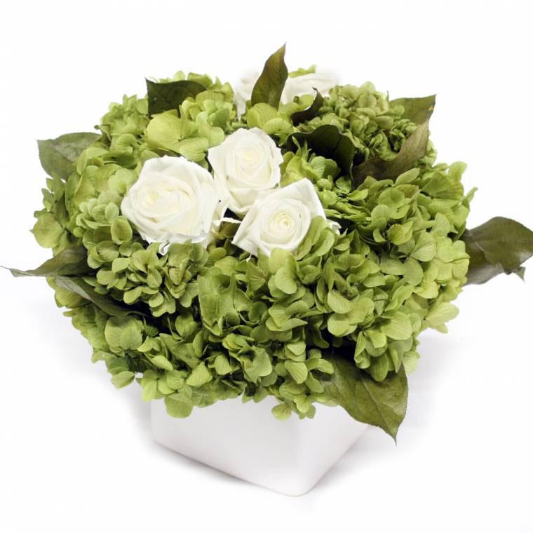 Preserved rose and hydrangea arrangement fga flr
