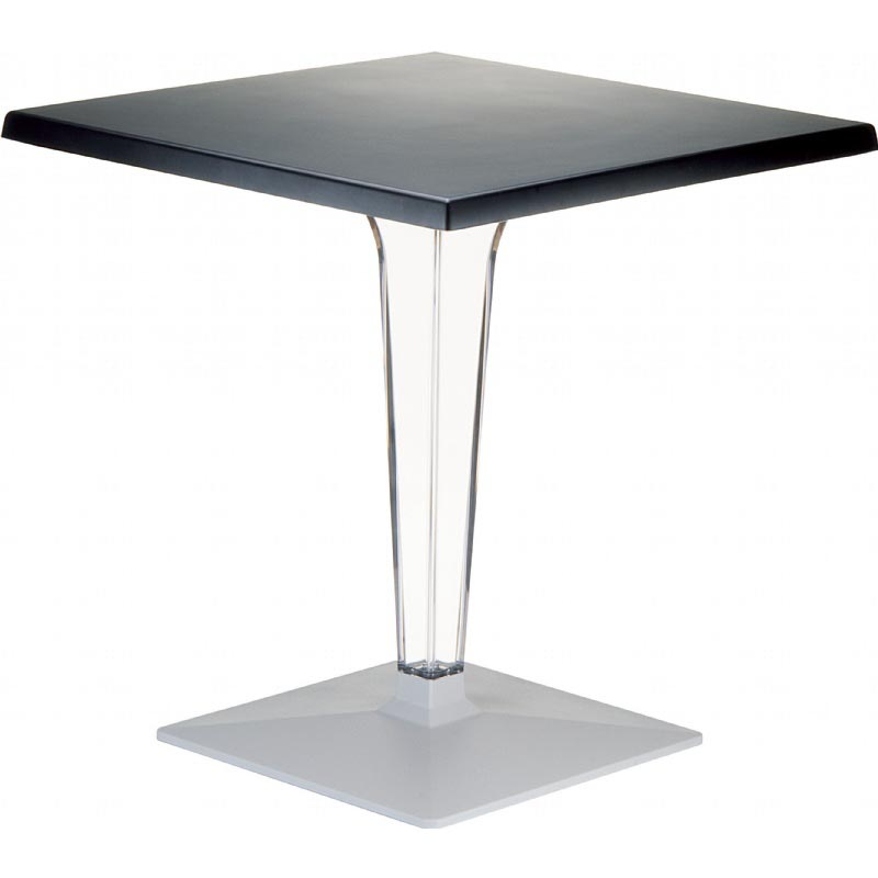 Search Ice Werzalit Square Dining Table Transparent Base Product Photo