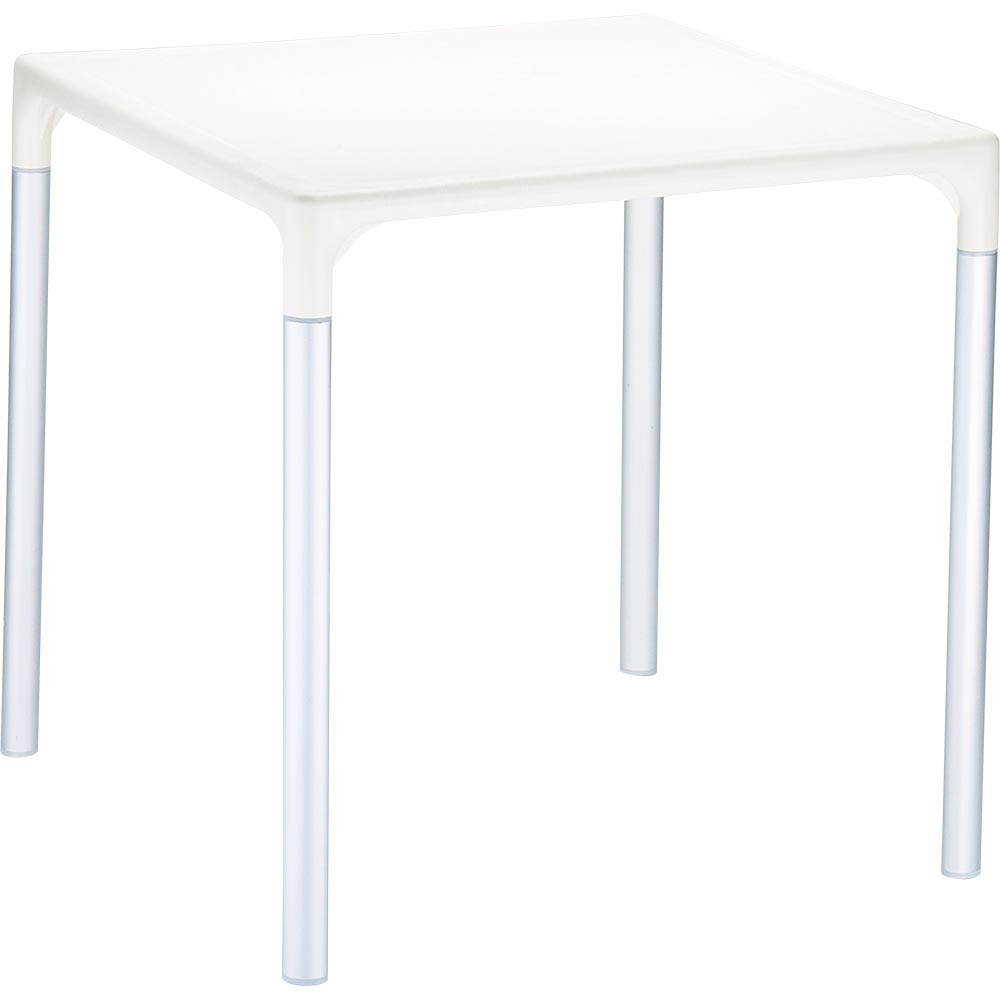 28 Inch Mango Alu Square Table