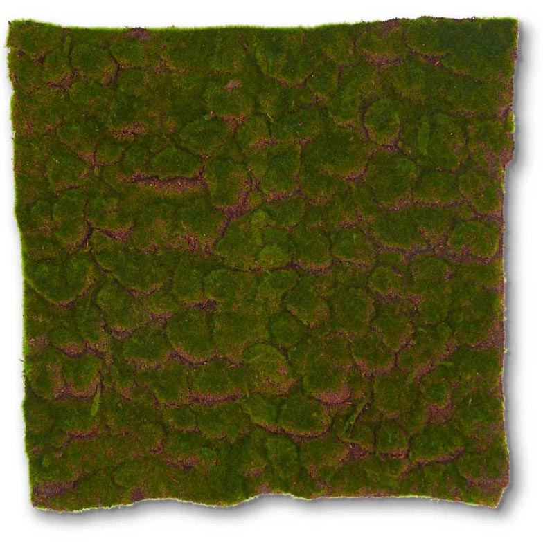 22 inch Square Artificial Forest Green Moss Pad 12379B