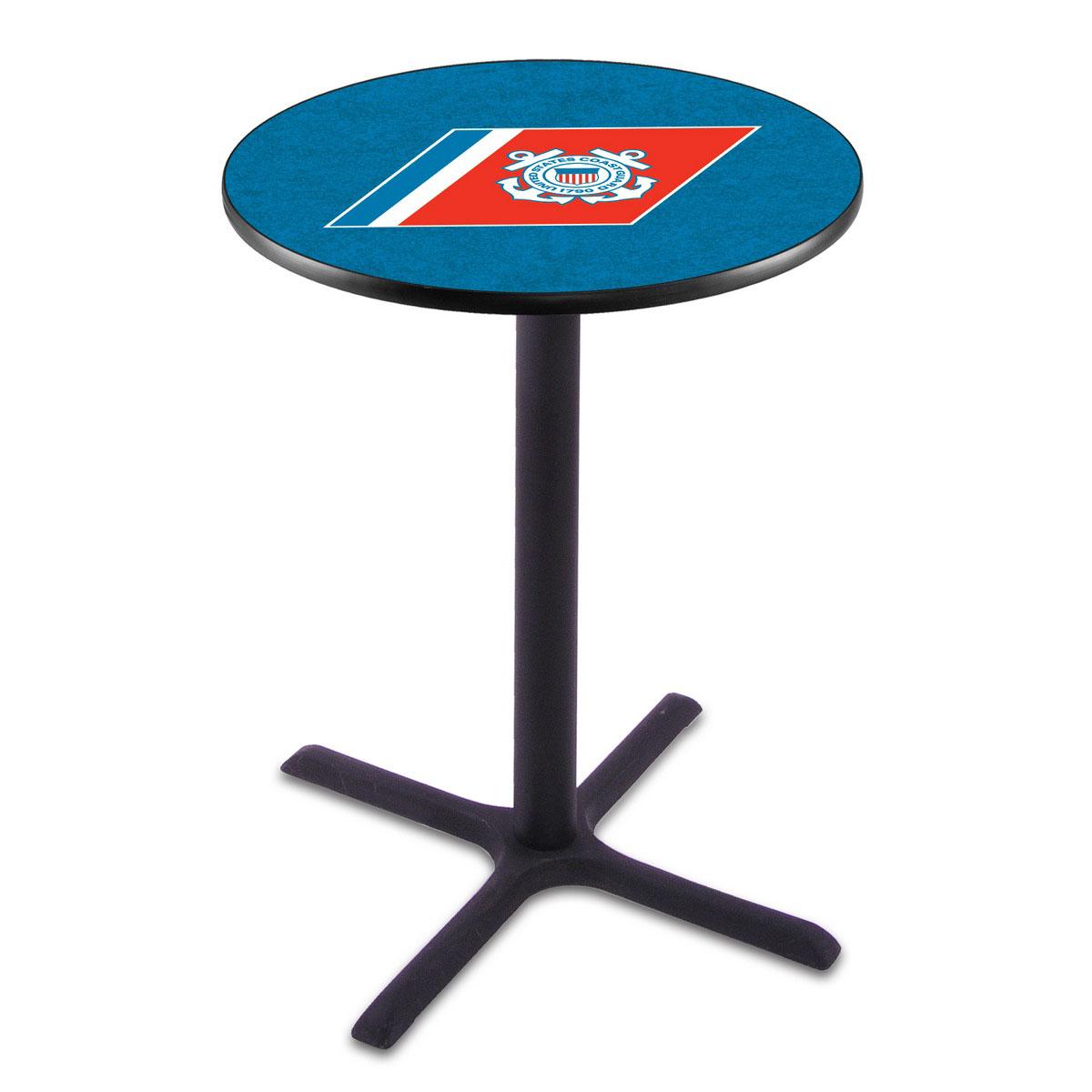 One of a kind U Coast Guard Wrinkle Pub Table Product Photo