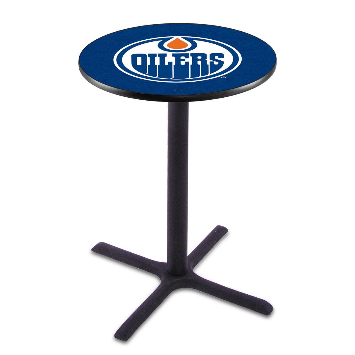 Impressive Edmonton Oilers Wrinkle Pub Table Product Photo