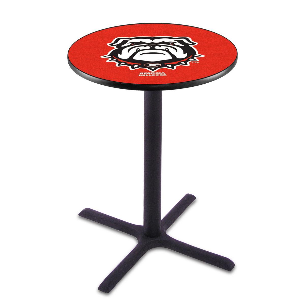 Information about Georgia Bulldog Wrinkle Pub Table Product Photo