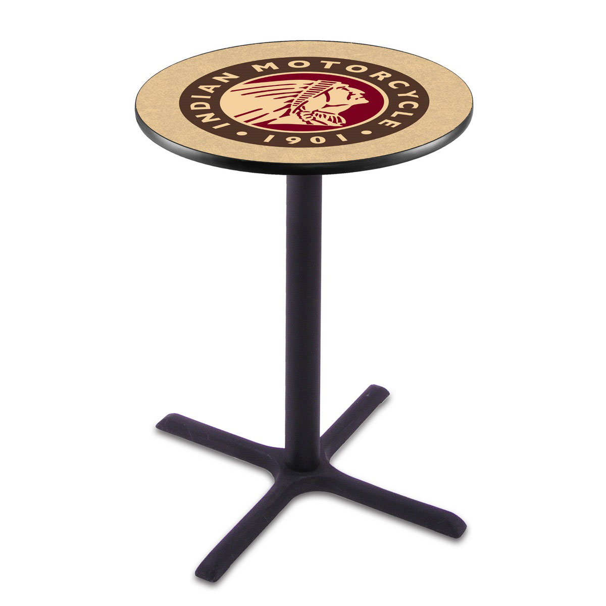 Precious Indian Motorcycle Wrinkle Pub Table Product Photo