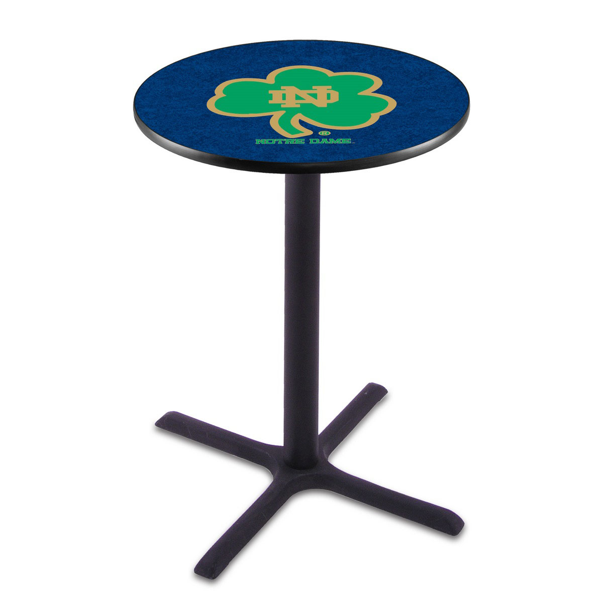 Stylish Notre Dame Shamrock Wrinkle Pub Table Product Photo