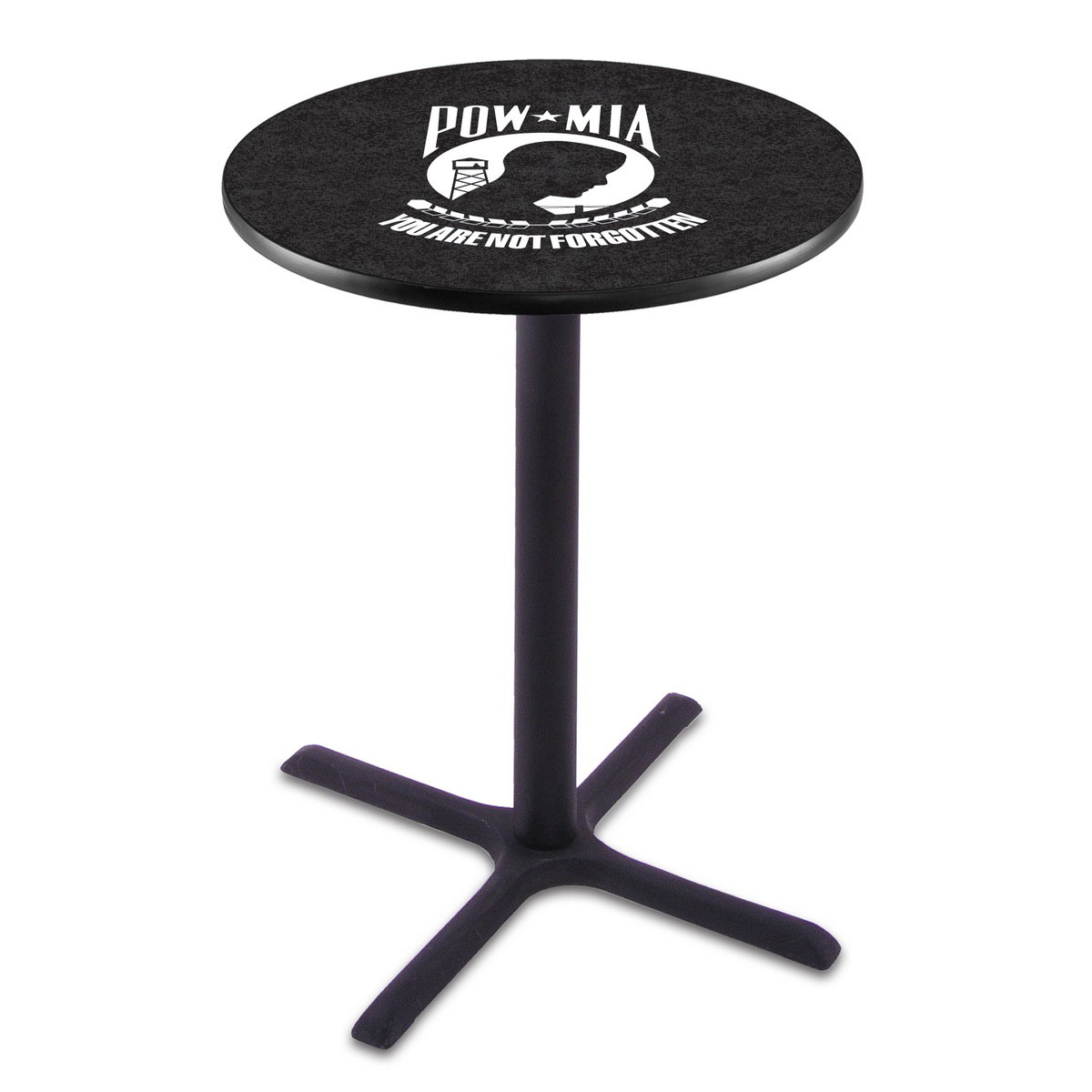 Select POW MIA Black Wrinkle Pub Table Product Photo