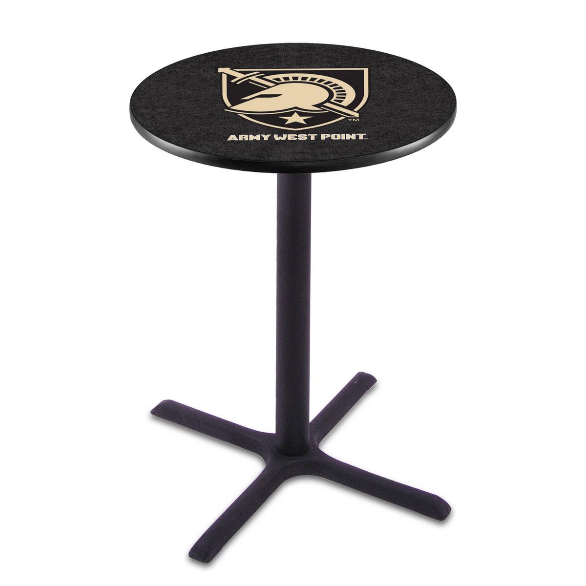 New US Military Academy Black Wrinkle Pub Table Product Photo