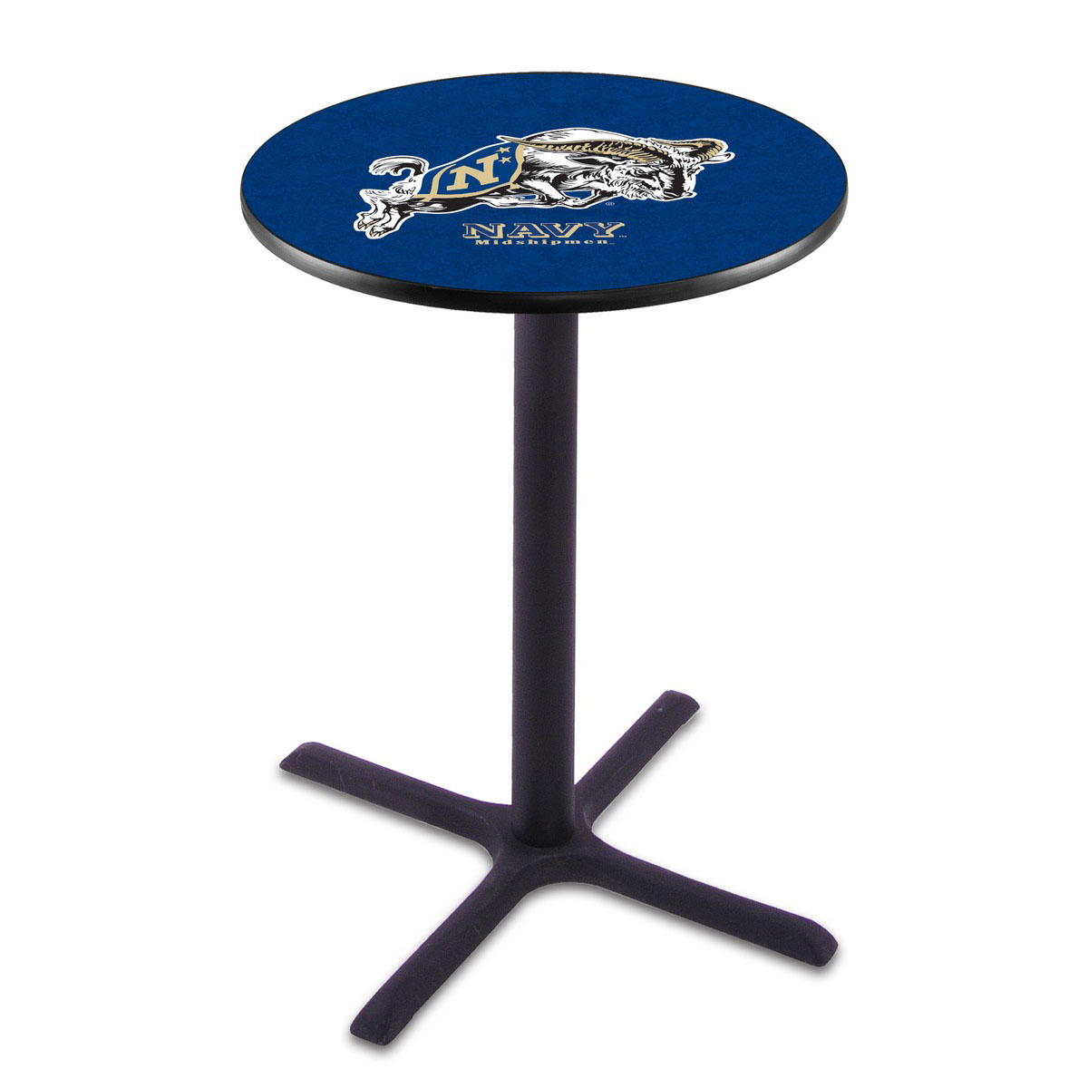 Outstanding US Naval Academy Black Wrinkle Pub Table Product Photo