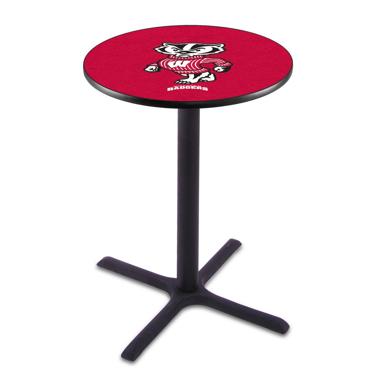 Longstanding Wisconsin Badger Wrinkle Pub Table Product Photo