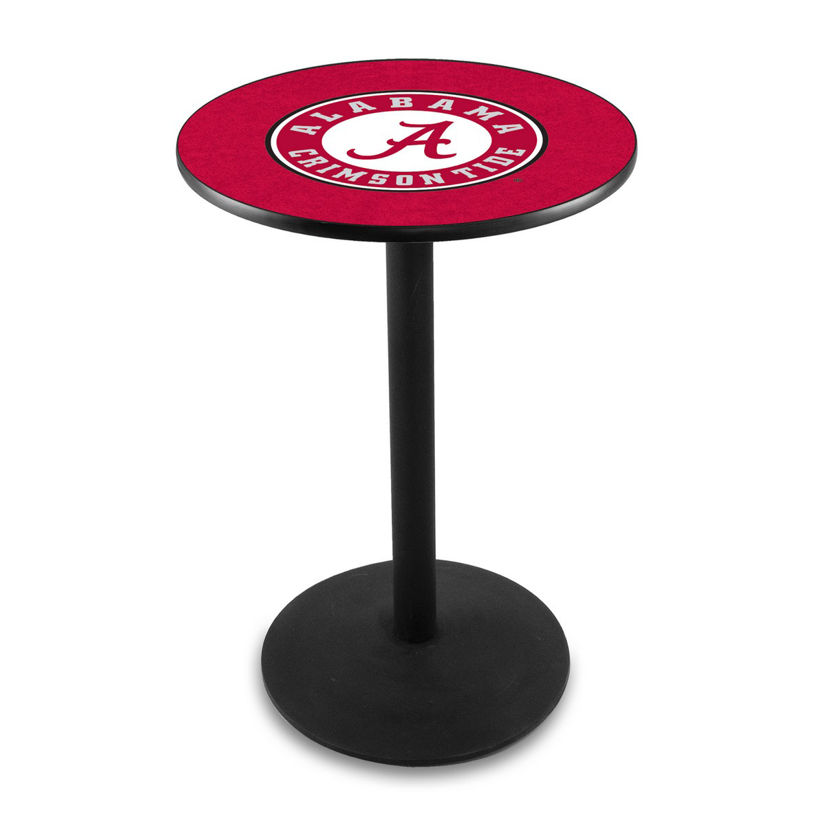 Search University Alabama Script A Logo Pub Bar Table Round Stand Product Photo