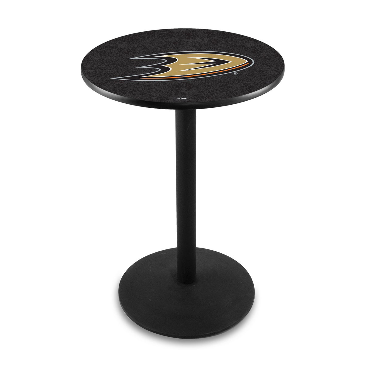 Info about Anaheim Ducks Logo Pub Bar Table Round Stand Product Photo