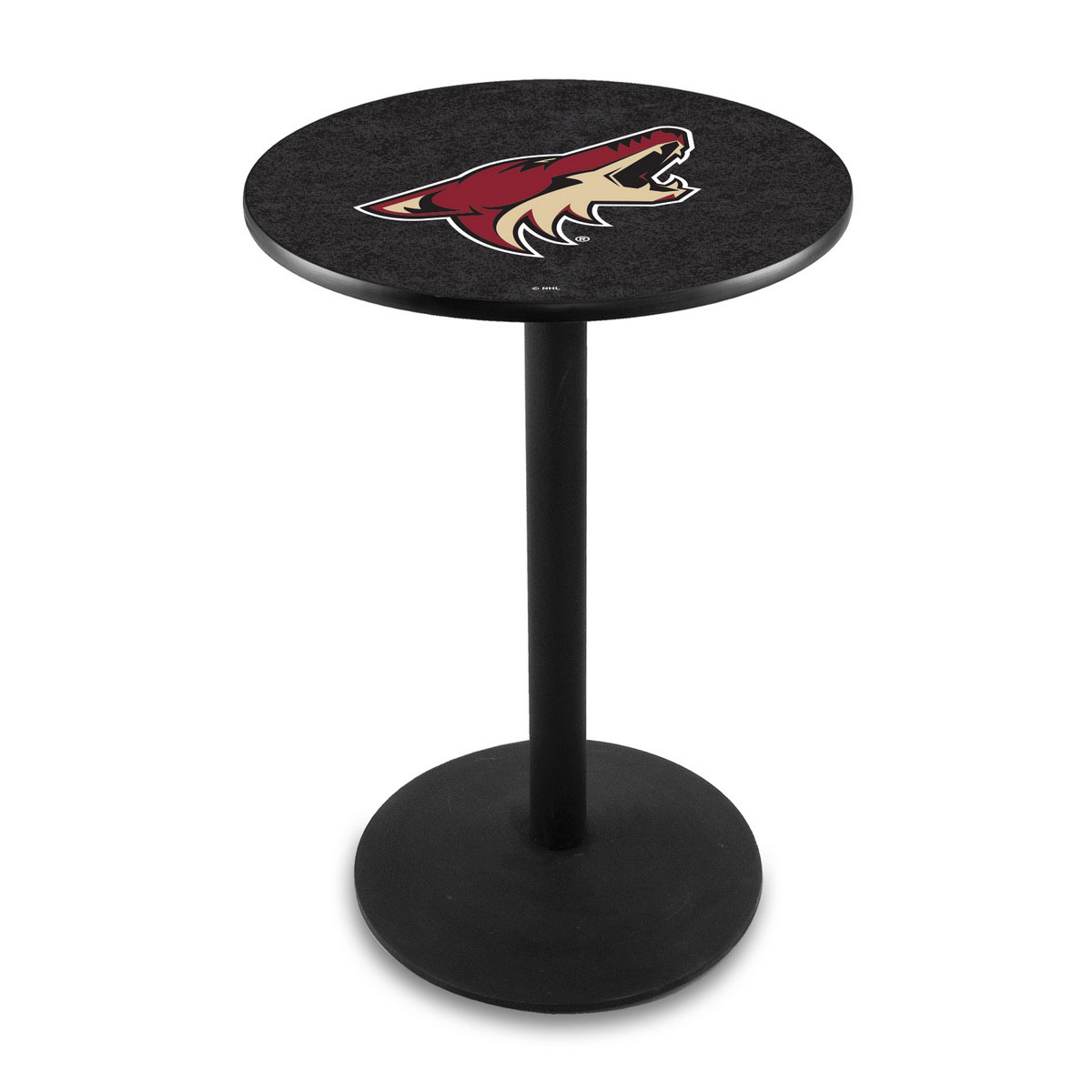 Unique Arizona Coyotes Logo Pub Bar Table Round Stand Product Photo