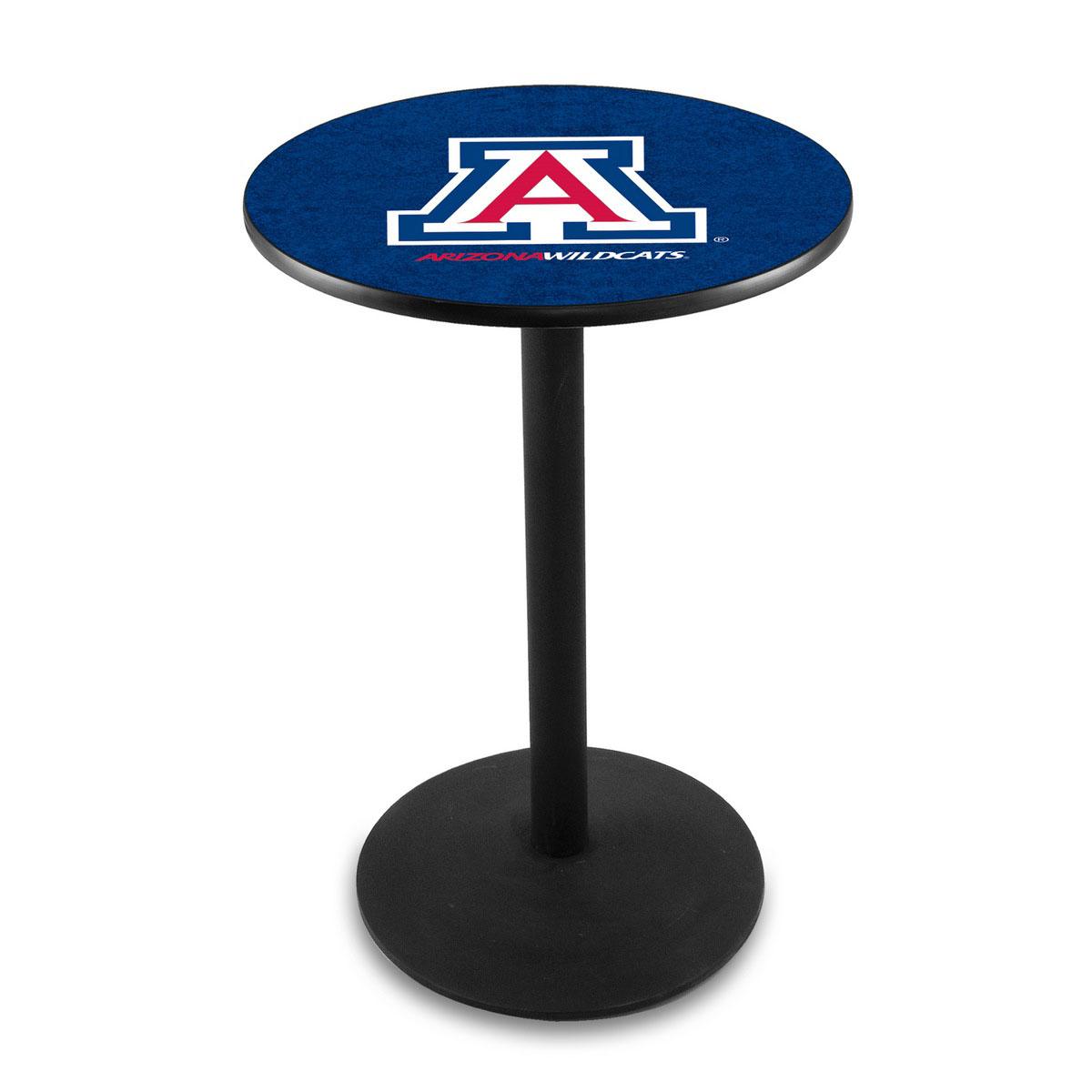 Information about University Arizona Logo Pub Bar Table Round Stand Product Photo