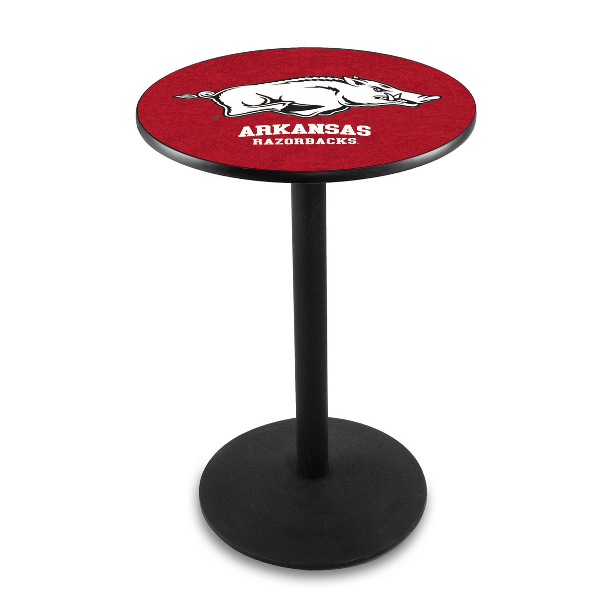 Info about University Arkansas Logo Pub Bar Table Round Stand Product Photo