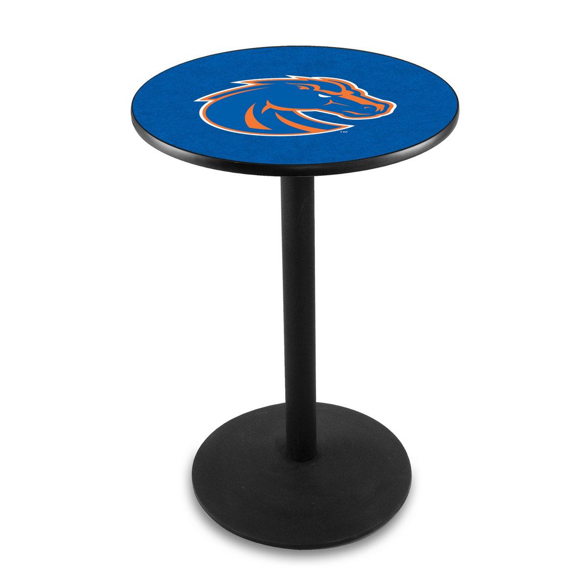 Stylish Boise State University Logo Pub Bar Table Round Stand Product Photo