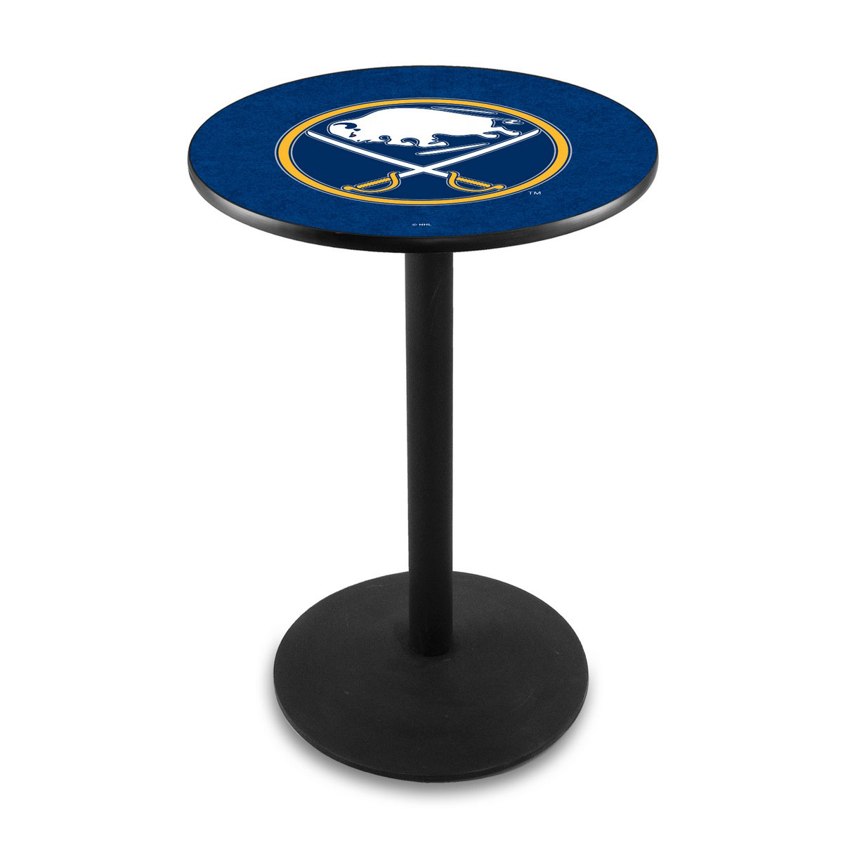 Tasteful Buffalo Sabres Logo Pub Bar Table Round Stand Product Photo
