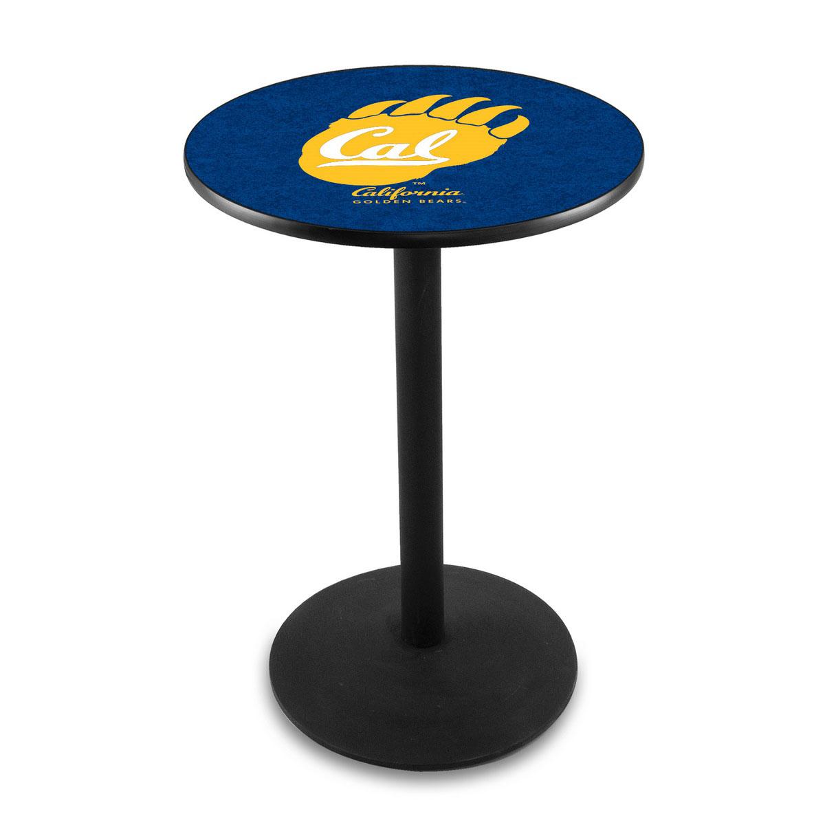 User friendly University California Logo Pub Bar Table Round Stand Product Photo