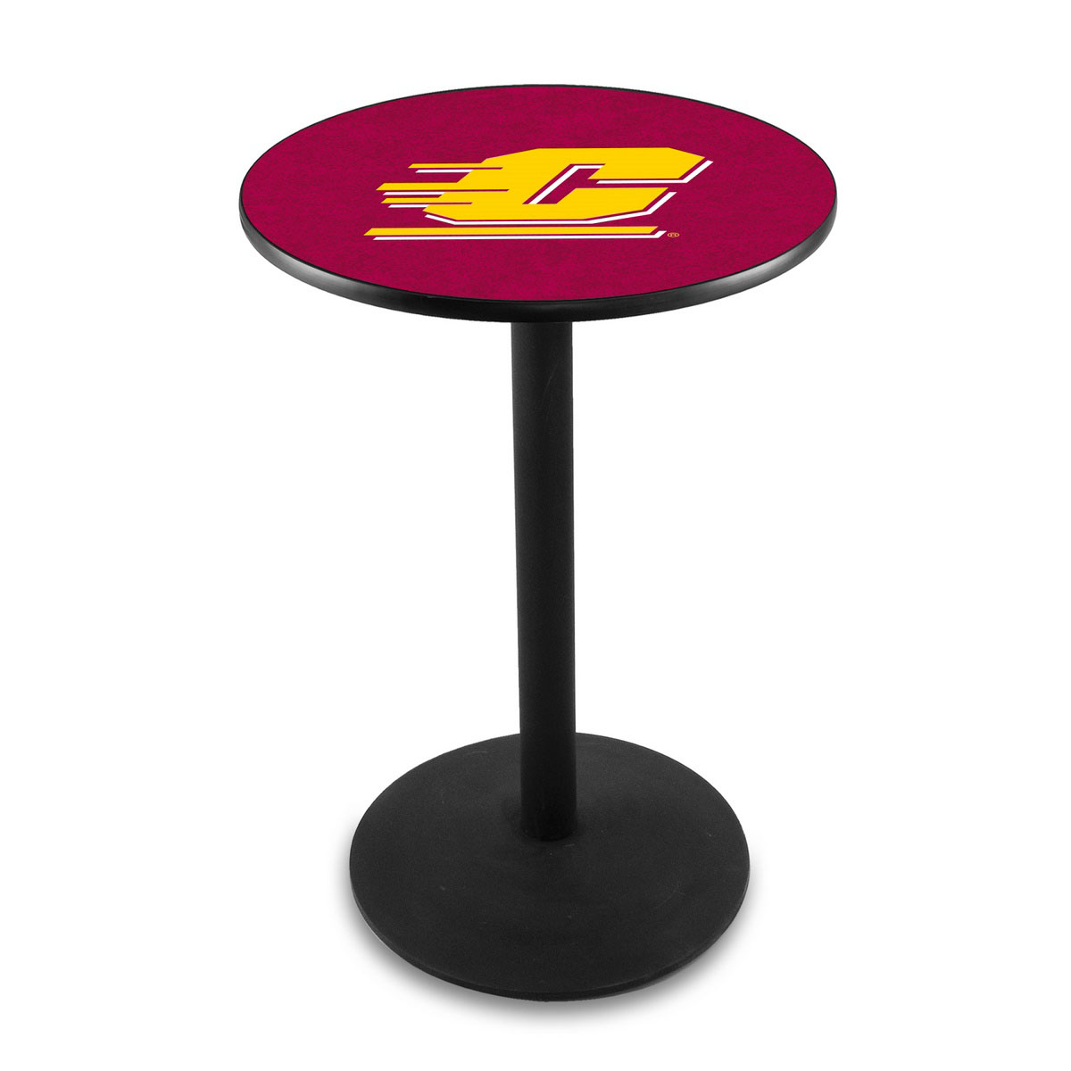Superb Central Michigan University Logo Pub Bar Table Round Stand Product Photo