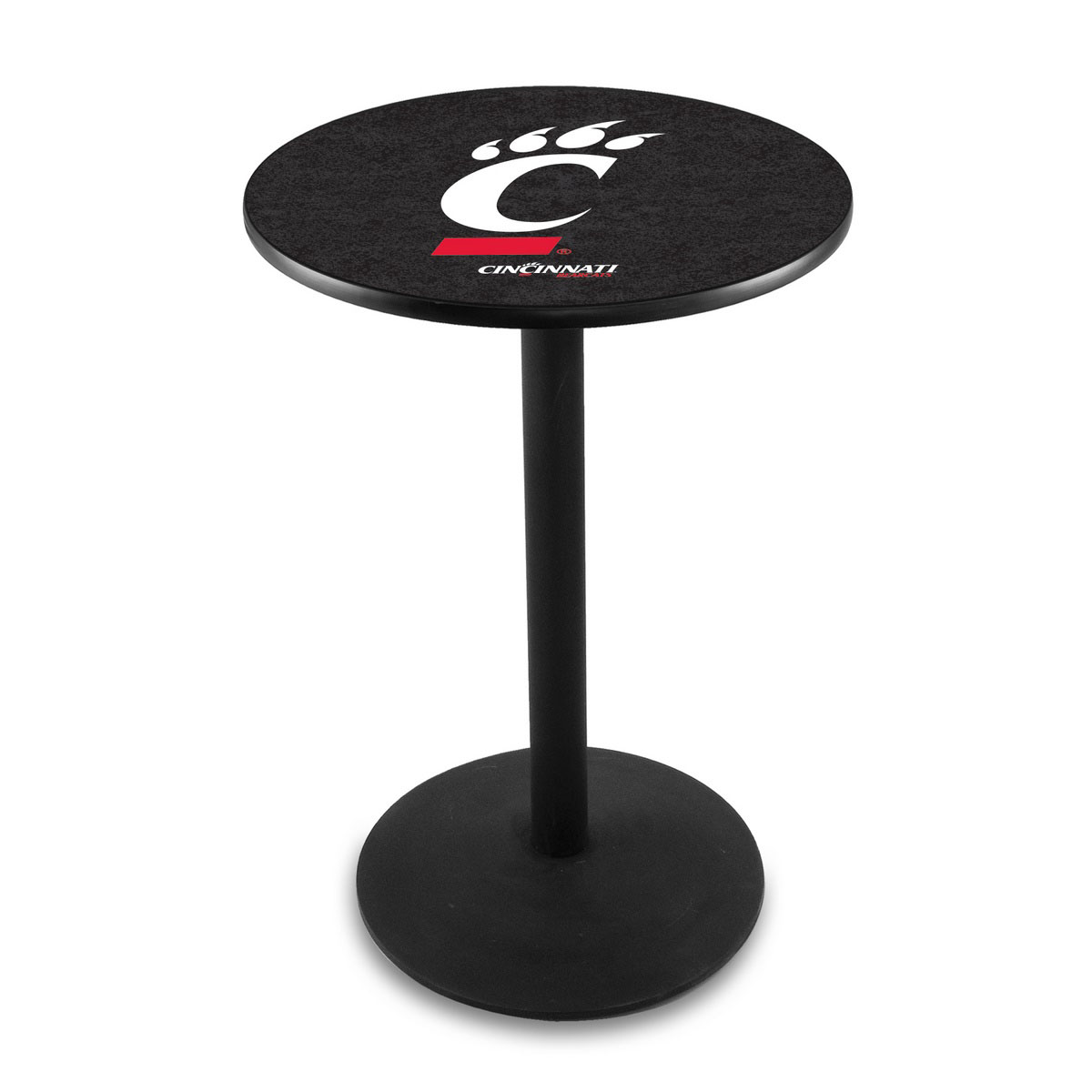 Ultimate University Cincinnati Logo Pub Bar Table Round Stand Product Photo
