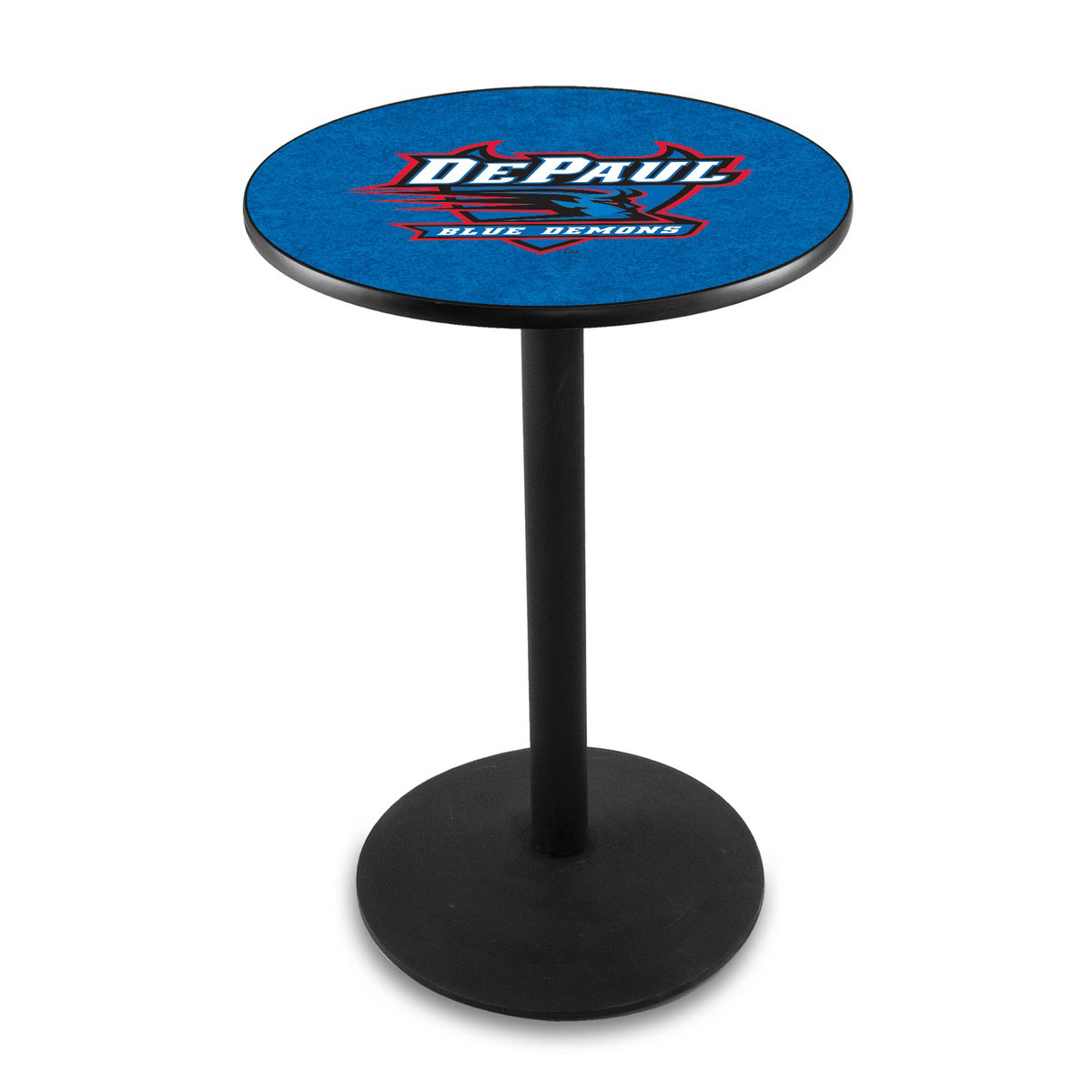 Reliable Depaul University Logo Pub Bar Table Round Stand Product Photo