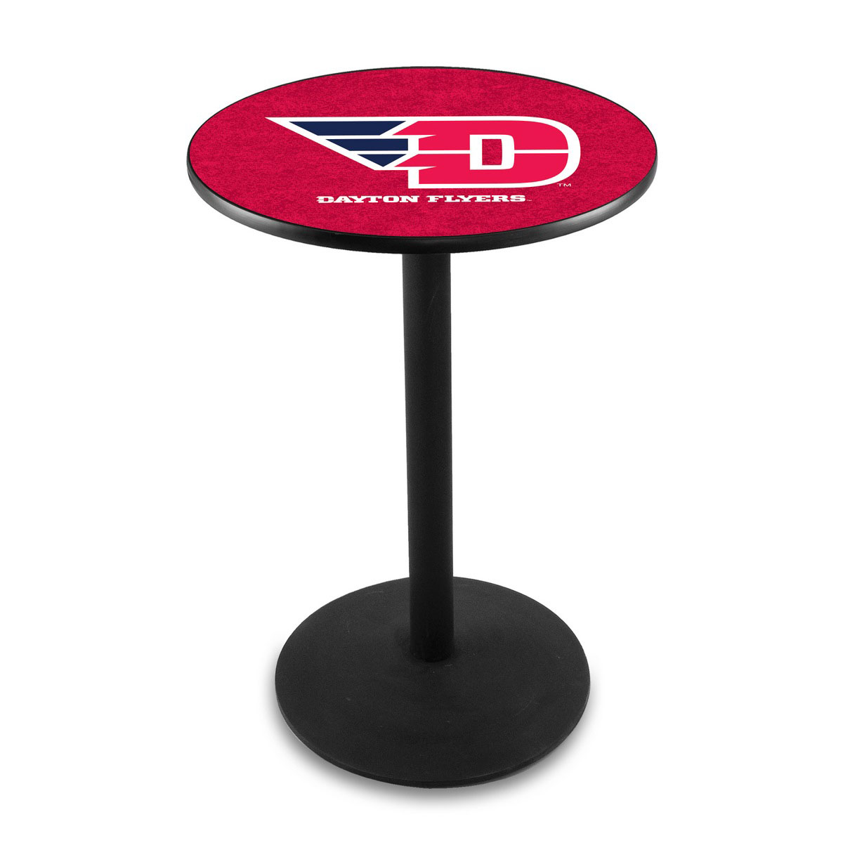 Stylish University Dayton Logo Pub Bar Table Round Stand Product Photo