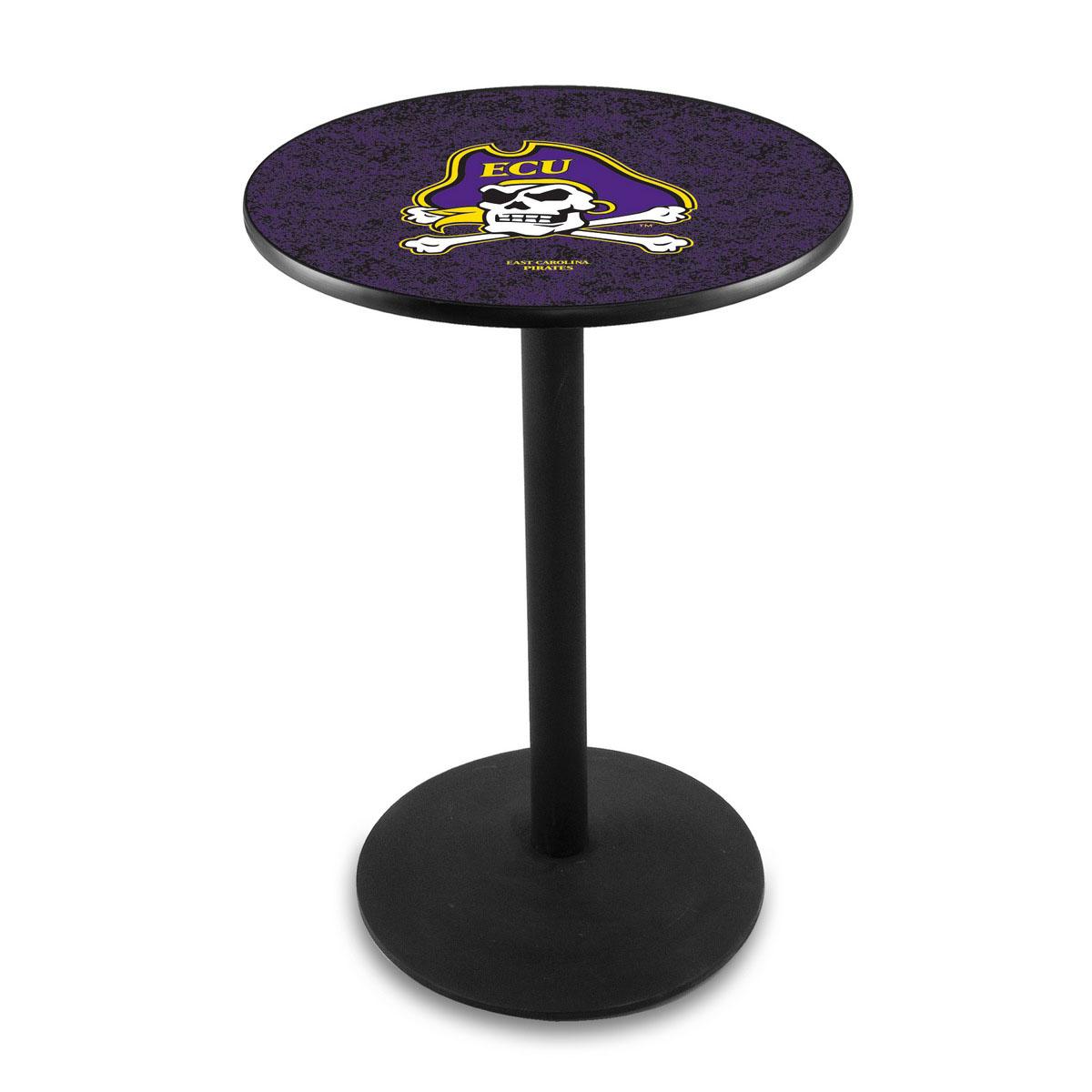 New East Carolina University Logo Pub Bar Table Round Stand Product Photo
