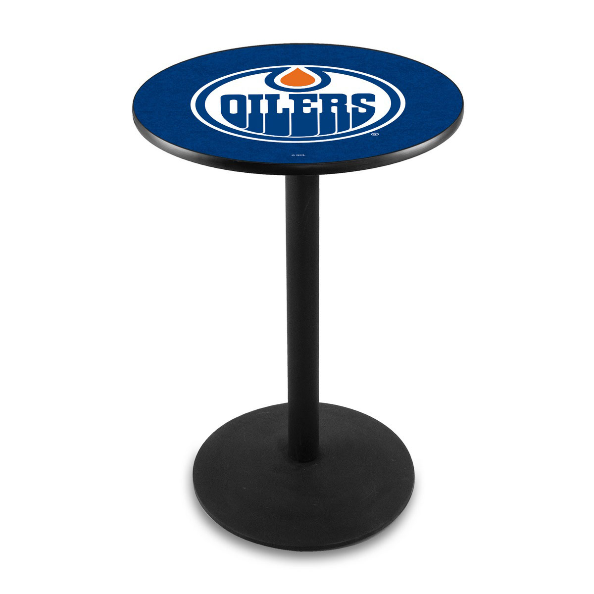 Excellent Edmonton Oilers Logo Pub Bar Table Round Stand Product Photo