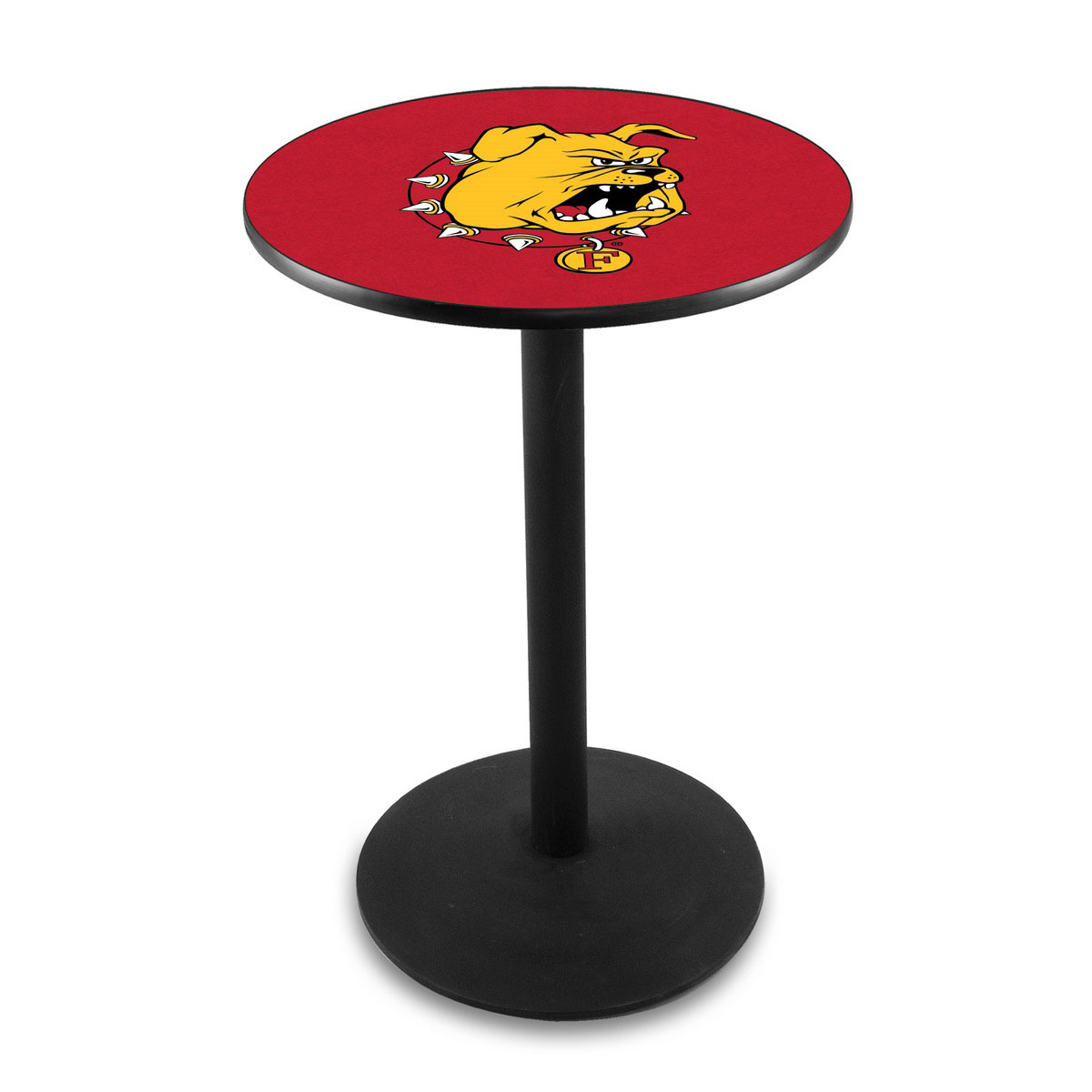 Precious Ferris State University Logo Pub Bar Table Round Stand Product Photo