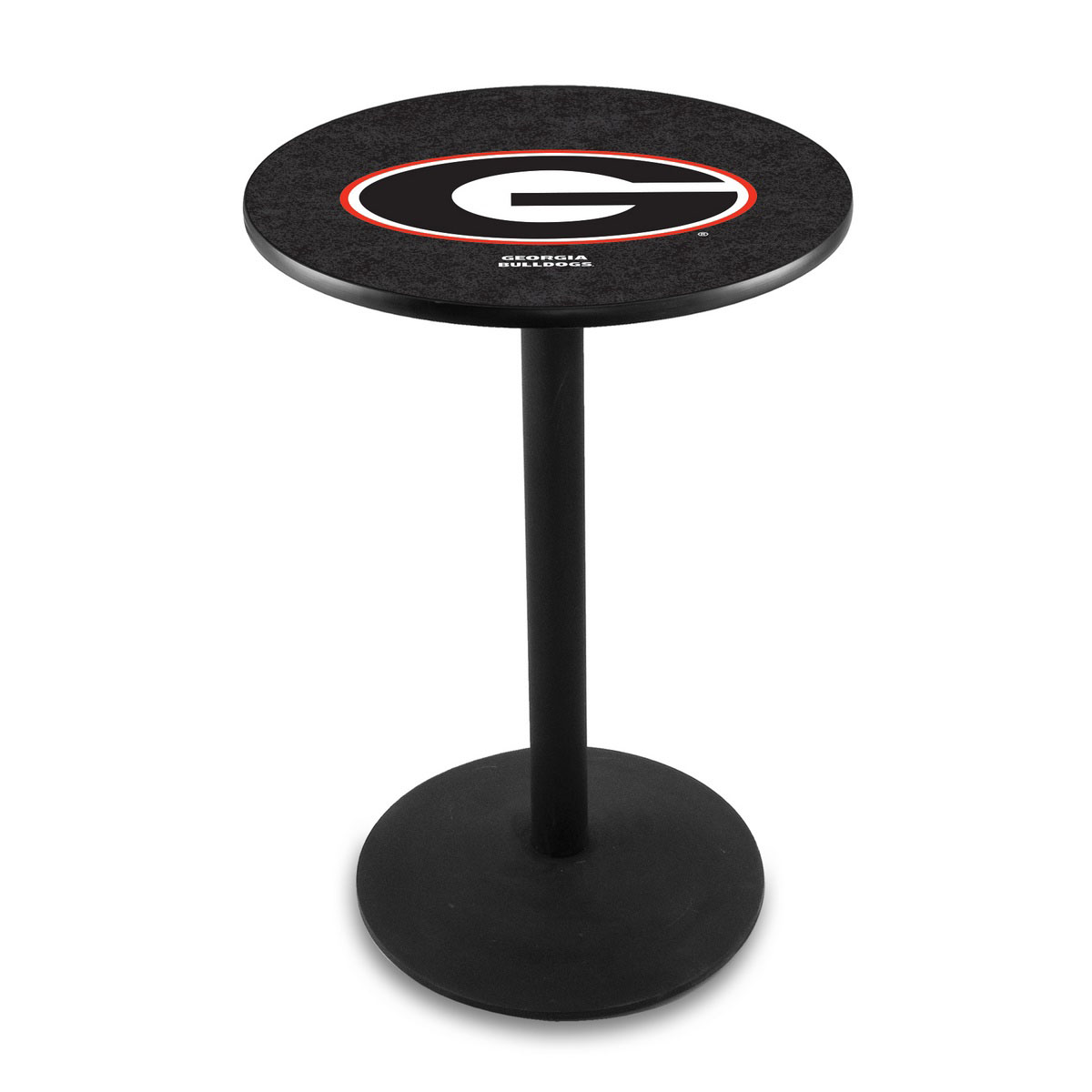 Exquisite University Georgia Logo Pub Bar Table Round Stand Product Photo