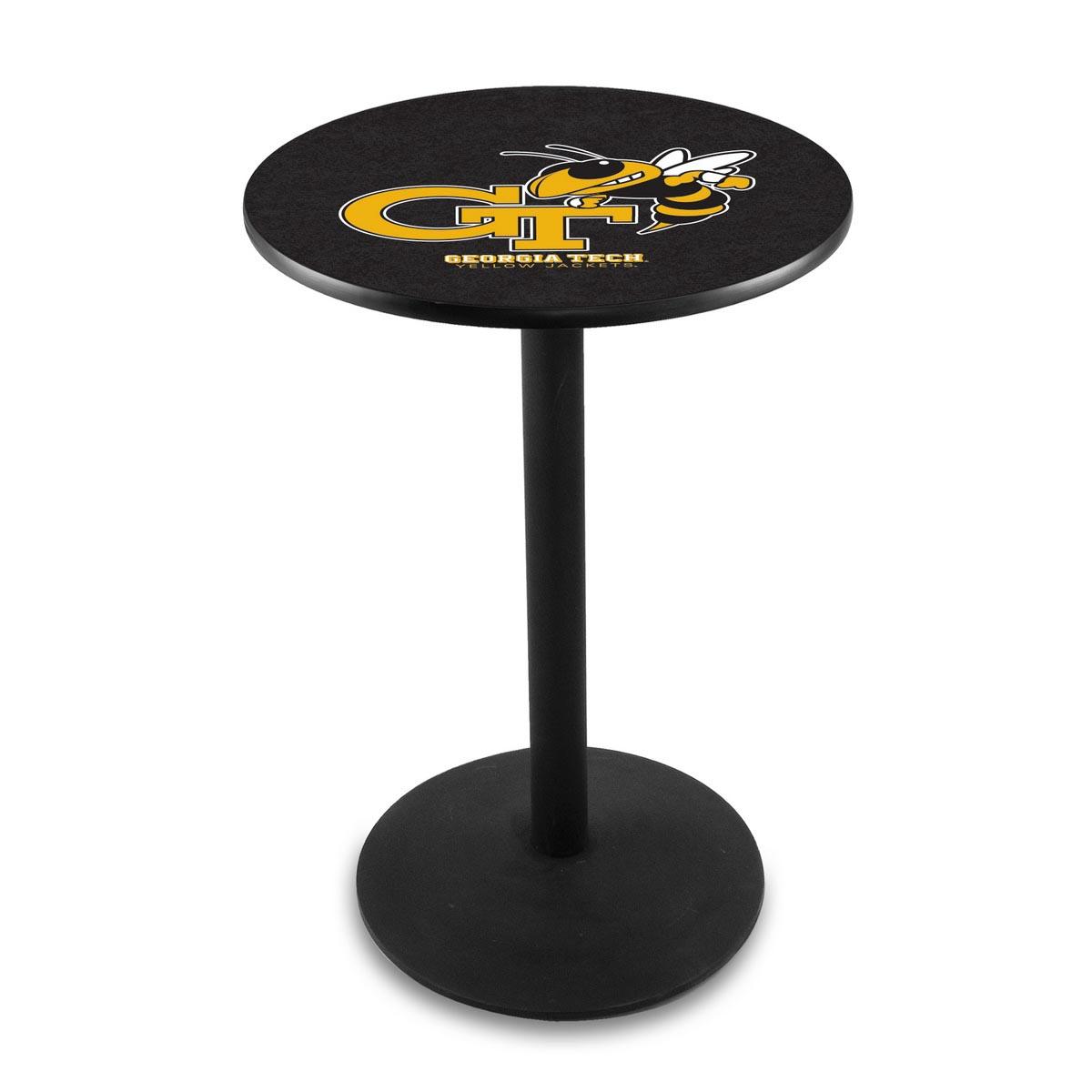 Optimal Georgia Tech Logo Pub Bar Table Round Stand Product Photo