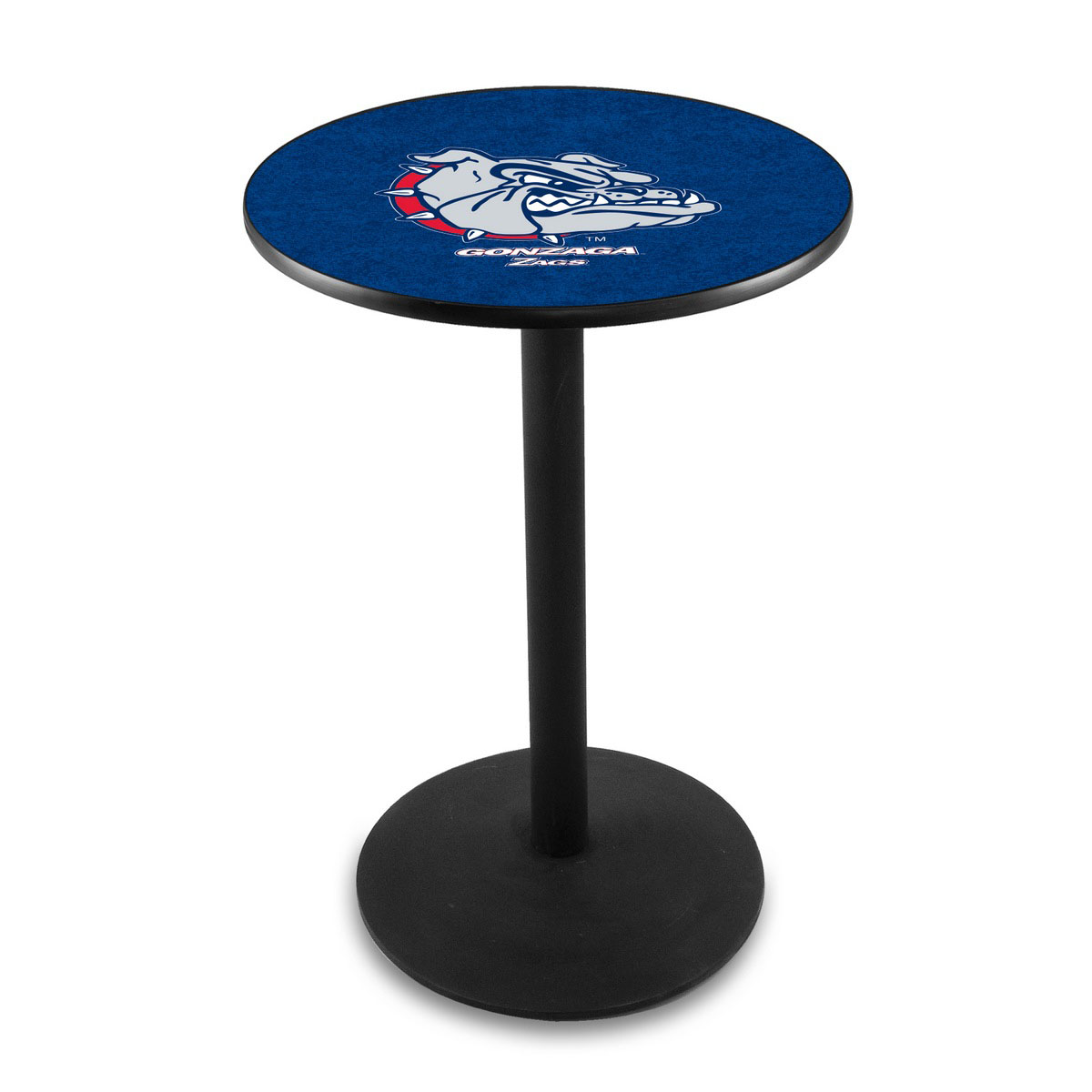 One of a kind Gonzaga Logo Pub Bar Table Round Stand Product Photo