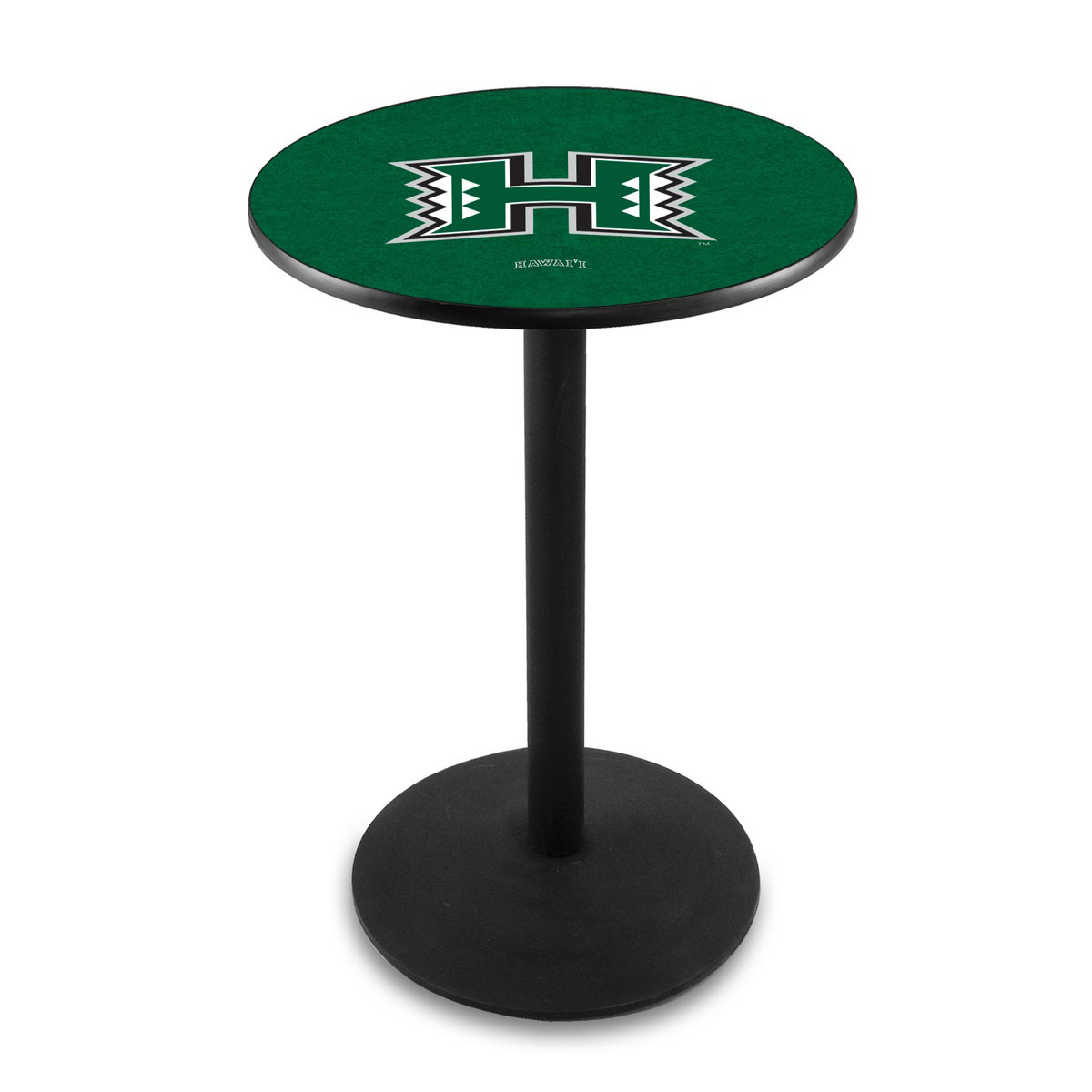 Tasteful University Hawaii Logo Pub Bar Table Round Stand Product Photo
