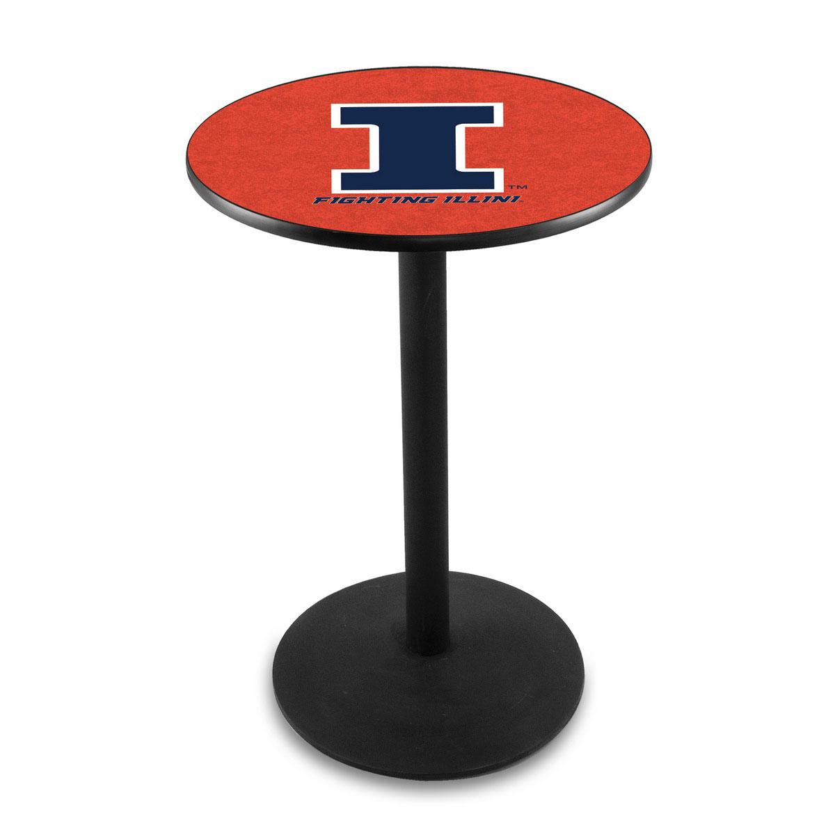 Lovable University Illinois Logo Pub Bar Table Round Stand Product Photo