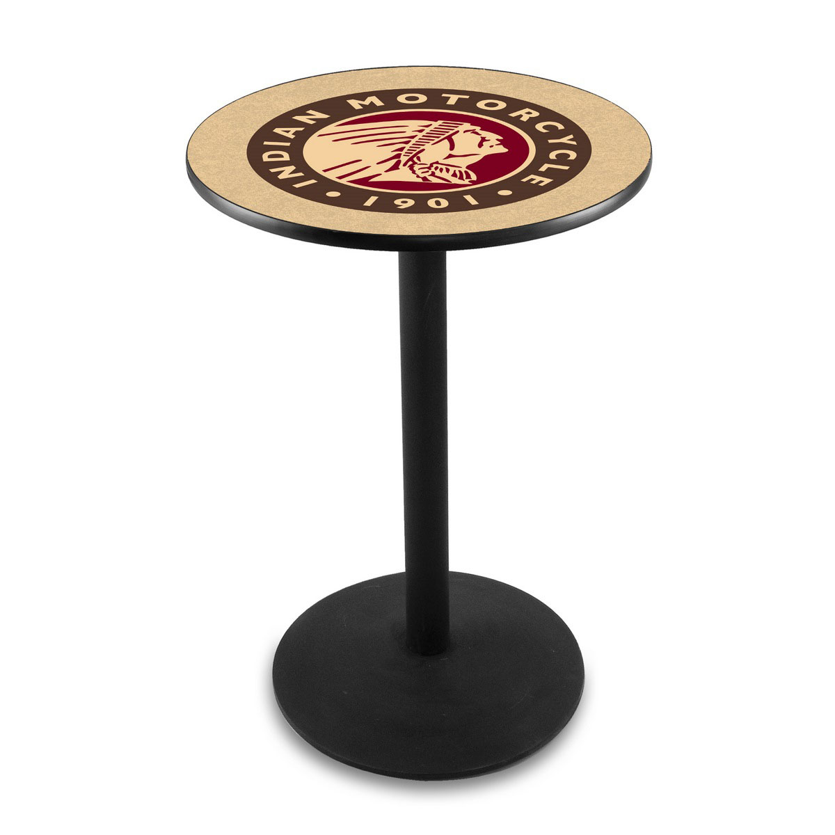 Beautiful Indian Motorcycle Logo Pub Bar Table Round Stand Product Photo