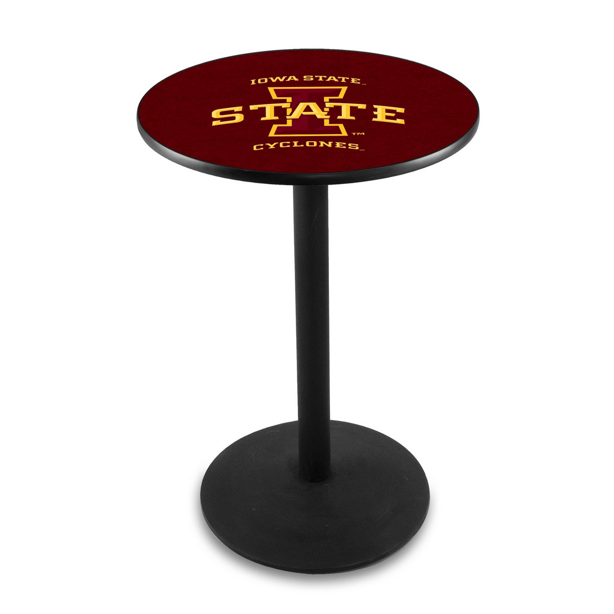 Wonderful Iowa State University Logo Pub Bar Table Round Stand Product Photo